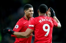 Rashford-inspired Man United ease past Norwich as Ireland's Idah features