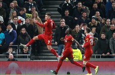 Liverpool overcome Tottenham to go 38 Premier League games unbeaten