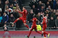 Liverpool overcome Tottenham to go 38 Premier League games unbeaten