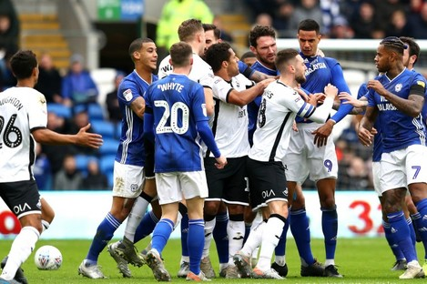 Tempers flare between Cardiff and Swansea.