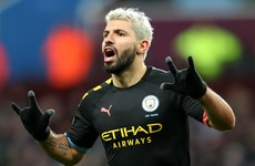 Aguero breaks two goalscoring records in City's trouncing of Villa