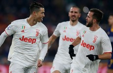 Ronaldo continues goalscoring form to help Juventus go top of Serie A