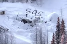 Snowy SOS signal saves Alaskan man after cabin burns down