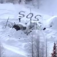 Snowy SOS signal saves Alaskan man after cabin burns down