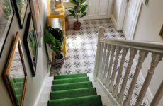 'There are divided opinions about the green runner': Martina shares her pop-of-colour hallway