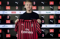 Denmark skipper joins AC Milan for remainder of the season