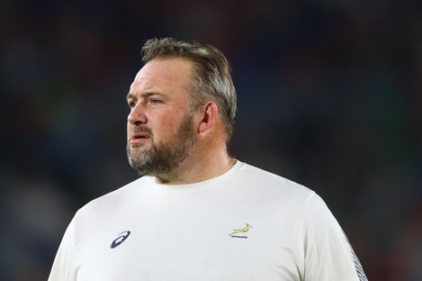 Proudfoot: part of Rassie Erasmus's backroom team at the Rugby World Cup.