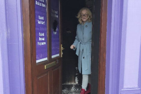 """Sharon Keoghan, an independent councillors for Laytown-Bettystown said her Duleek office was """"destroyed"""" by the fire."""