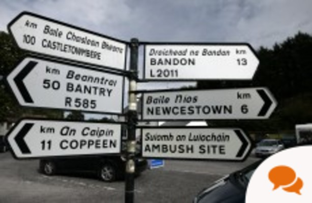 Traffic Calming Island Or Gotcha Device >> Column Why Not Give Irish Equal Status On Our Road Signs
