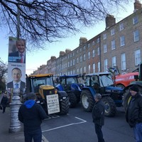 Farmers warn of further 'civil disobedience' as dozens of tractors shut down busy Dublin streets