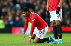 'That backfired' - Solskjaer rues substitution as Rashford hobbles off