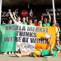 Flying the flag: Angela Merkel banner raises over €20k for charities