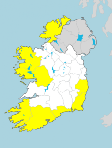 Wind warnings in place for 8 counties as cold and wintry conditions on the way