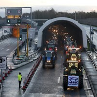 Traffic moving again on M50 but huge delays following farmers' protest during evening rush hour