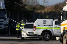 Gardaí at the scene of shooting incident in north Dublin