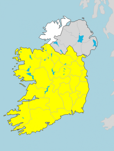 Freezing night ahead as low temperature and ice warning issued for most of country