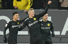 Haaland scores stunning hat-trick off the bench on Borussia Dortmund debut
