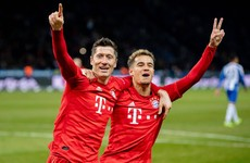 Lewandowski scores yet again as Bayern go second in Bundesliga