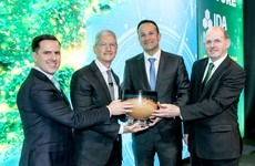 Taoiseach presents Apple CEO Tim Cook with special award in Dublin