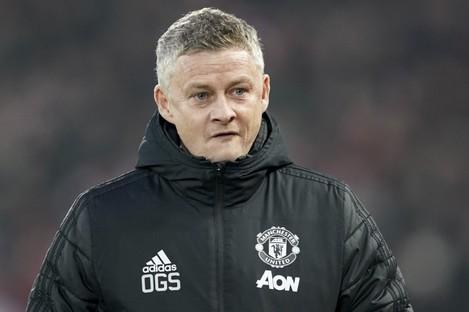 Manchester United's manager Ole Gunnar Solskjaer.