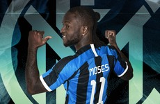 Inter complete loan deal for Chelsea wing-back Moses