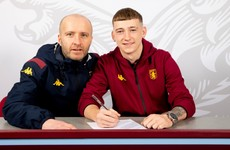 One-time Ireland underage striker leaves Barcelona's academy to sign for Aston Villa