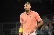 Kyrgios apologises to team for being 'a bit of a d***head'