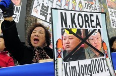 South Koreans burn flags as US joins military exercises