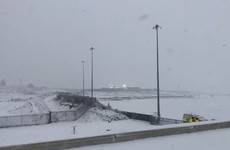 Flights at Knock Airport affected as heavy snow hits the northwest