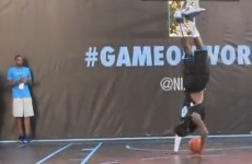 VIDEO: And the winner for best cartwheel slam dunk goes to...