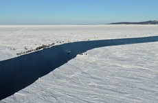 Hundreds of Russian fishermen rescued after becoming stranded on ice floe