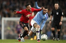 Nervy Man City edge United to reach League Cup final