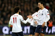 Liverpool beat West Ham to go 19 points clear at top