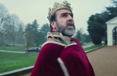 'King' Eric Cantona has Liam Gallagher for a butler in video for Oasis frontman's new single