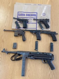 Gardaí seize five handguns and one machine gun in targeted gangland search in west Dublin