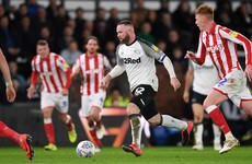 Rooney stunner helps Derby crush in-form Stoke