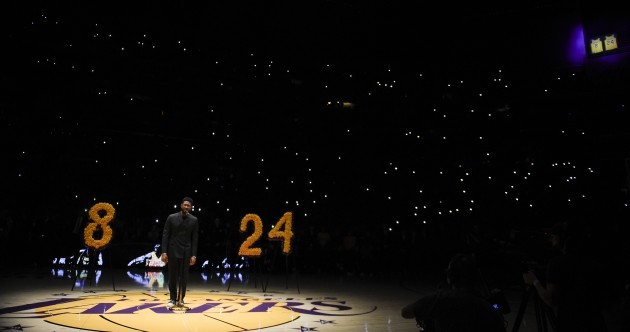 'Not forgotten' - grieving LA Lakers pay tribute to Kobe Bryant