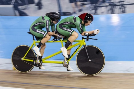 Katie George Dunleavy and Eve McCrystal secured a silver medal at the UCI Para-cycling Track World Championships.