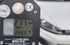 Driver arrested after travelling at 211km/h on M1