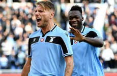 Immobile fires Lazio second as striker matches scoring mark in Serie A