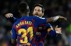 Barcelona prodigy Fati breaks La Liga record in stunning first-half performance
