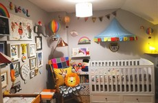 'The circus idea came from some Cath Kidston wallpaper': Corinne shares her baby's colourful bedroom
