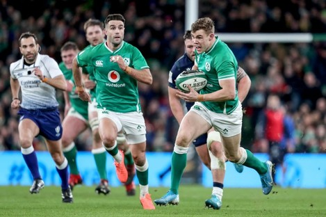 Garry Ringrose in action for Ireland against Scotland on Saturday.