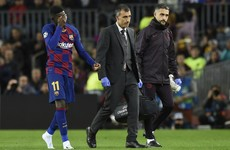 Barcelona's €105m man Dembele ruled out for the season