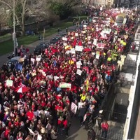 'This is huge': Thousands of childcare protesters march across Dublin city