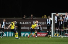 Brilliant free kick from ex-Ireland U21 international not enough, as Newcastle break Oxford hearts
