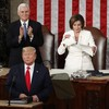 Trump refuses to shake Pelosi's hand, then she rips up his speech