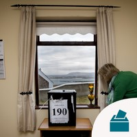 In Photos: Voting takes place on Gola island off the Donegal coast