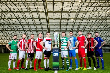 League of Ireland players pictured at the recent media launch day.