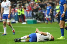 Fractured leg rules France winger out for the rest of the Six Nations